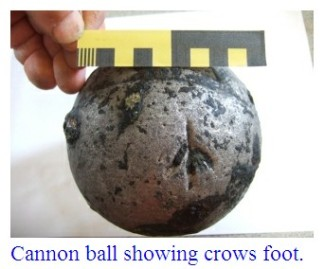 cannon-ball-showing-crows-foot